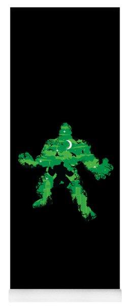 Green Monster Yoga Mat