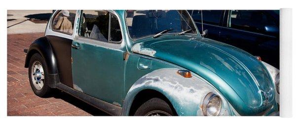 Green Old Vintage Volkswagen Car Yoga Mat
