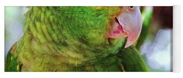 Green Parrot Yoga Mat
