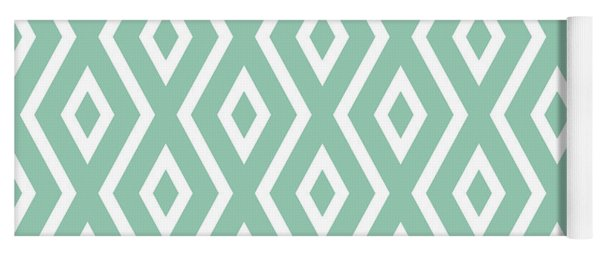 Light Sage Green Pattern Yoga Mat