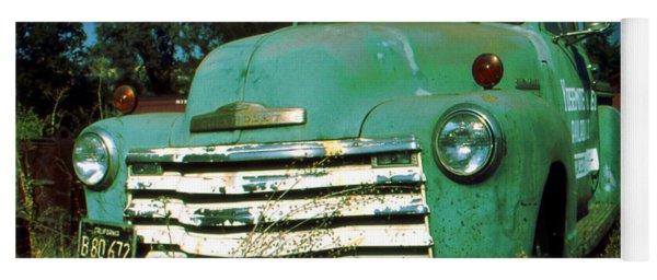 Green Pickup Truck 1959 Yoga Mat