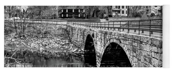 Green Street Bridge In Black And White Yoga Mat