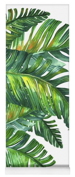 Green Tropic  Yoga Mat