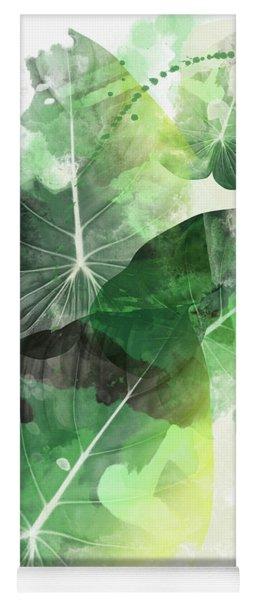 Green Tropical Yoga Mat