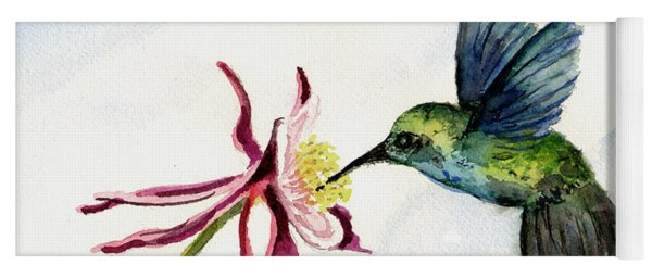 Green Violet-ear Hummingbird Yoga Mat