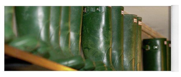 Green Wellies Yoga Mat