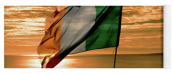 Flag Of Ireland At The Cliffs Of Moher Yoga Mat