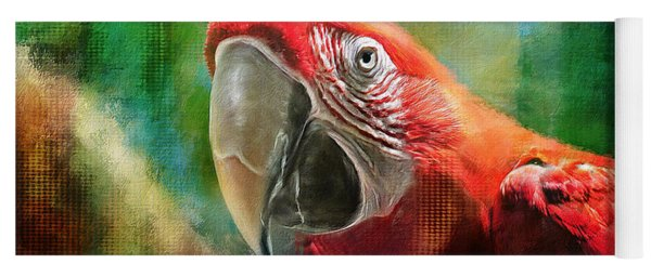 Green Winged Macaw Yoga Mat