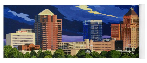 Greensboro Skyline In The Sunshine Yoga Mat