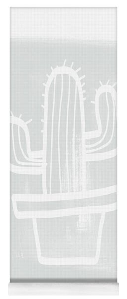 Grey And White Cactus- Art By Linda Woods Yoga Mat