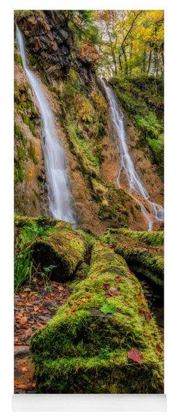 Grey Mares Tail Waterfall Yoga Mat