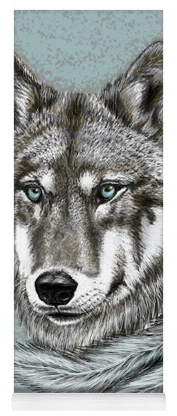 Grey Wolf Yoga Mat