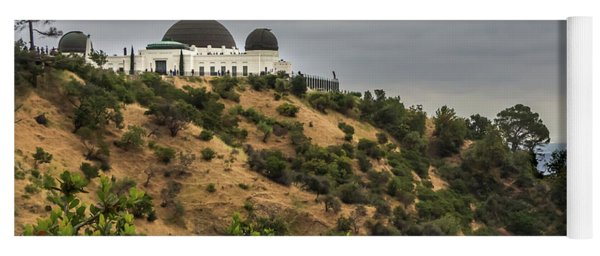 Yoga Mat featuring the photograph Griffith Park Observatory by Ed Clark
