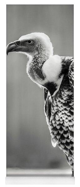 Griffon Vulture-black And White Yoga Mat