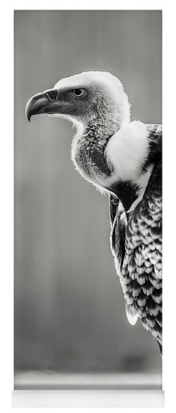 Griffon Vulture-black And White Yoga Mat