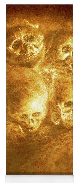 Grim Tales Of Burning Skulls Yoga Mat