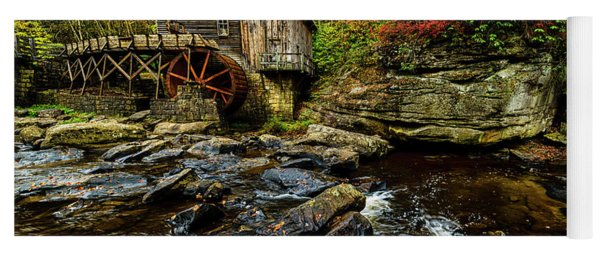 Grist Mill Fall Color Yoga Mat