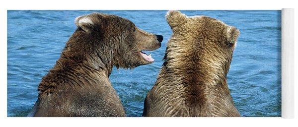 Grizzly Bear Talk Yoga Mat