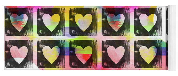 Groovy Hearts- Art By Linda Woods Yoga Mat