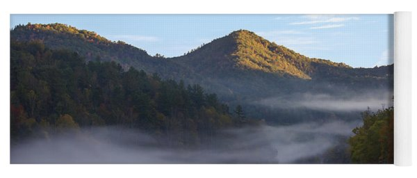 Ground Fog In Cataloochee Valley - October 12 2016 Yoga Mat