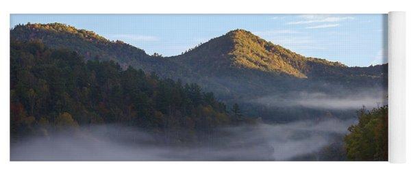 Ground Fog In Cataloochee Valley - October 12 2016 Yoga Mat