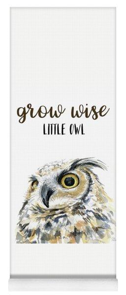 Grow Wise Little Owl Yoga Mat