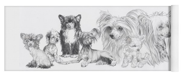 The Chinese Crested And Powderpuff Yoga Mat