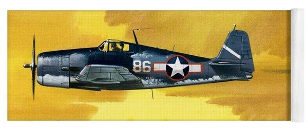 Grumman F6f-3 Hellcat Yoga Mat