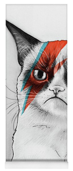 Grumpy Cat As David Bowie Yoga Mat