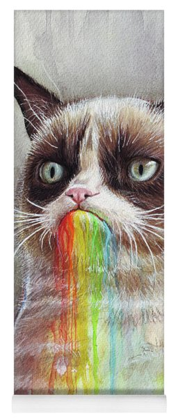 Grumpy Cat Tastes The Rainbow Yoga Mat