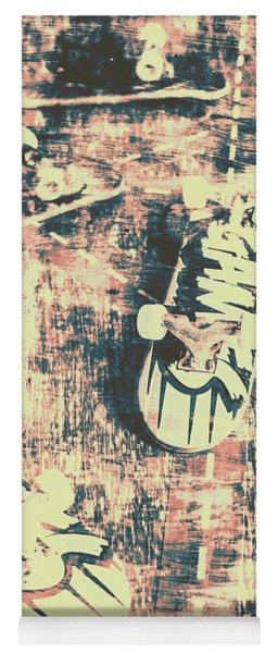 Grunge Skateboard Poster Art Yoga Mat