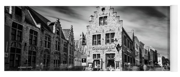 Yoga Mat featuring the photograph Gruuthuse Hof In Bruges by Barry O Carroll