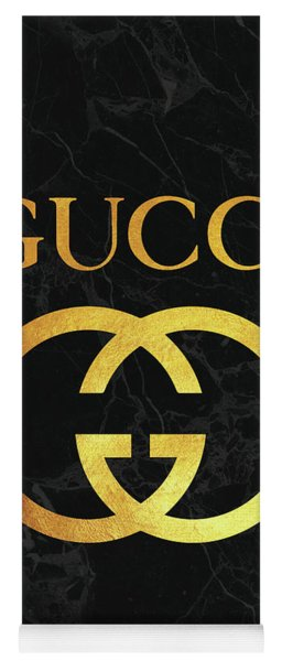 Gucci - Black And Gold - Lifestyle And Fashion Yoga Mat