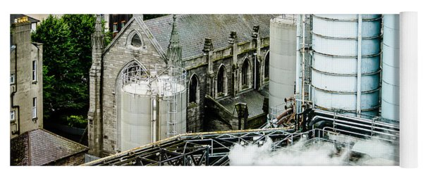 Guinness Brewery And St James Church In Dublin Yoga Mat