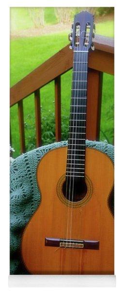 Guitar Awaiting Yoga Mat