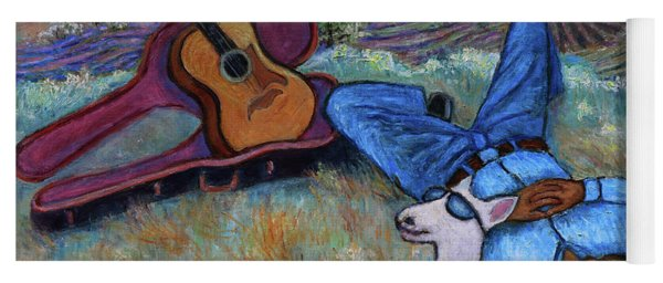 Guitar Doggy And Me In Wine Country Yoga Mat
