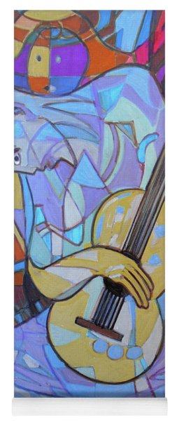 Yoga Mat featuring the painting Guitar-six Strings by Denise Weaver Ross