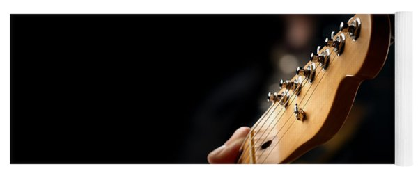 Guitarist Close-up Yoga Mat