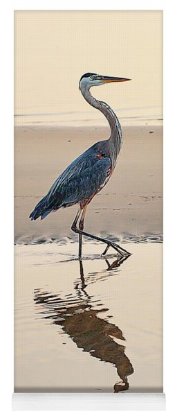 Gulf Port Great Blue Heron Yoga Mat