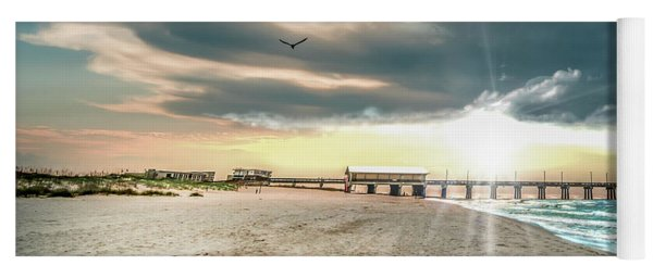 Gulf Shores Al Pier Seascape Sunrise 152c Yoga Mat