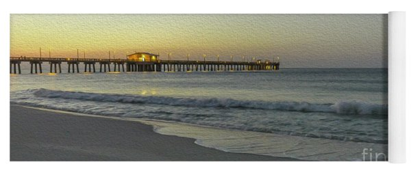 Gulf Shores Alabama Fishing Pier Digital Painting A82518 Yoga Mat