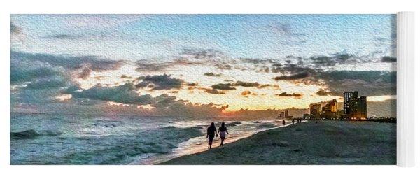 Gulf Shores Beach Sunset Seascape 0272a Digital Painting Yoga Mat