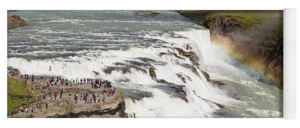 Gullfoss Waterfall In Iceland Yoga Mat