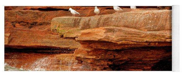 Gulls On Outcropping Yoga Mat