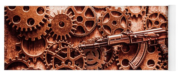 Guns Of Machine Mechanics Yoga Mat
