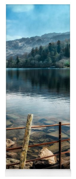 Yoga Mat featuring the photograph Gwynant Lake by Adrian Evans