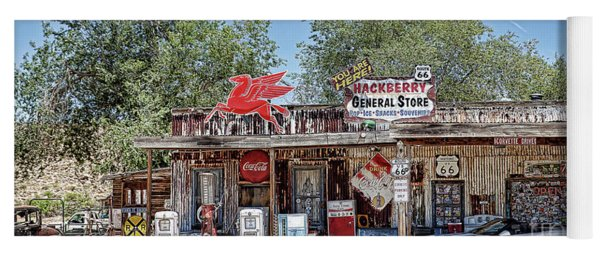 Hackberry General Store On Route 66, Arizona Yoga Mat