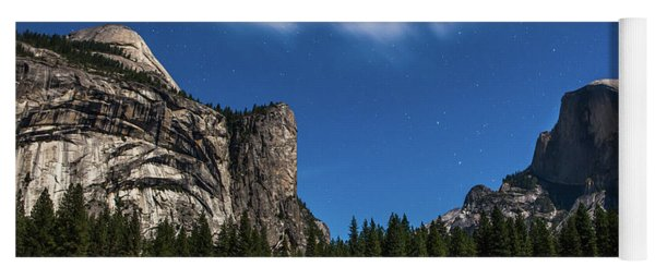 Half Dome And Moonlight - Yosemite Yoga Mat