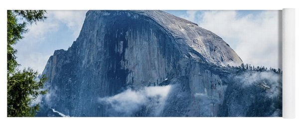 Half Dome In The Clouds Yoga Mat