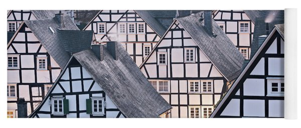 Yoga Mat featuring the photograph Half-timbered Houses In Detail In Germany by IPics Photography